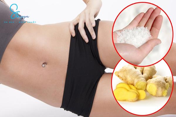 6 phương pháp hứu ích giảm mỡ bụng với gừng.